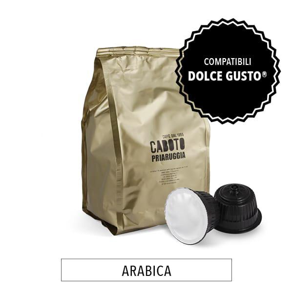 capsule compatibili nescafè dolce gusto priaruggia 100% arabica caffè caboto