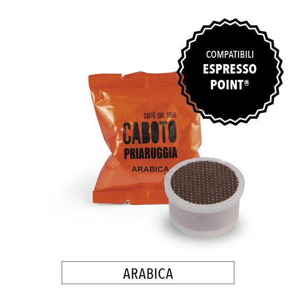 capsule compatibili lavazza espresso point priaruggia 100% arabica caffè caboto