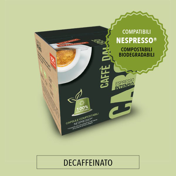 capsule caffè compostabili bio azzurro decaffeinato caffè caboto